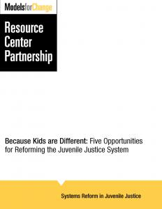 Because Kids are Different: Five Opportunities for Reforming the Juvenile Justice System Cover