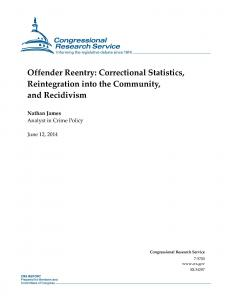 Offender Reentry: Correctional Statistics, Reintegration into the Community, and Recidivism Cover
