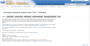 Corrections Statistical Analysis Tool (CSAT)—Probation Cover
