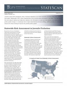 Statewide Risk Assessment in Juvenile Probation Cover