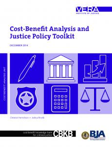 Cost-Benefit Analysis and Justice Policy Toolkit Cover