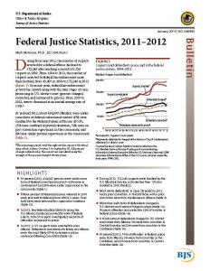 Federal Justice Statistics, 2011 - 2012 Cover