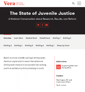 The State of Juvenile Justice: A National Conversation about Research, Results, and Reform Cover