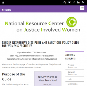Gender Responsive Discipline and Sanctions Policy Guide for Women's Facilities cover