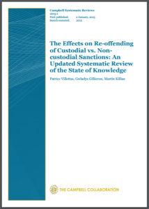 The Effects on Re-offending of Custodial vs. Non-custodial Sanctions: An Updated Systematic Review of the State of Knowledge Cover