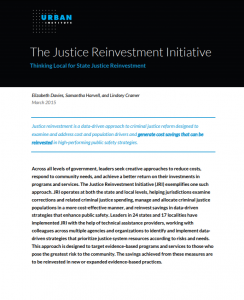 The Justice Reinvestment Initiative Cover