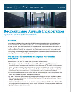 Re-Examining Juvenile Incarceration cover