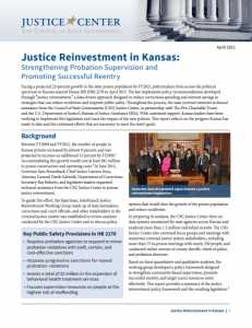 Justice Reinvestment in Kansas: Strengthening Probation Supervision and Promoting Successful Reentry cover