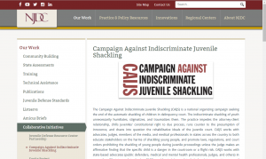 Campaign Against Indiscriminate Juvenile Shackling (CAIJS) cover
