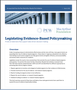 Legislating Evidence-Based Policymaking Cover