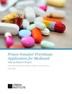 Prison Inmates' Prerelease Application for Medicaid Cover