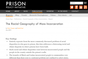 The Racial Geography of Mass Incarceration Cover
