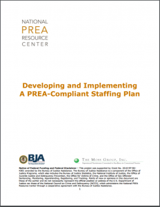 Developing and Implementing a PREA-Compliant Staffing Plan Cover