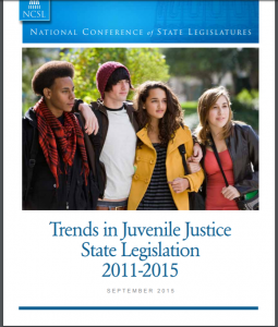 › Trends in Juvenile Justice State Legislation 2011-2015 cover