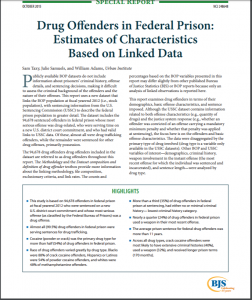 Drug Offenders in Federal Prisons: Estimates of Characteristics Based on Linked Data Cover