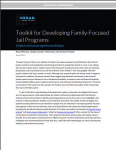 Toolkit for Developing Family-Focused Jail Programs Cover