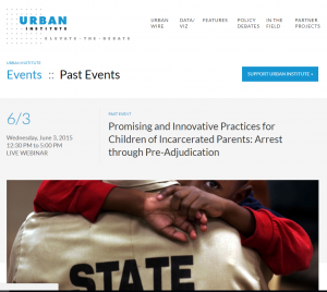 Practices for Children of Incarcerated Parents: Arrest through Pre-Adjudication [Webinar] cover