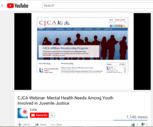 CJCA Webinar: Mental Health Needs Among Youth Involved in Juvenile Justice cover