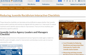 › Reducing Juvenile Recidivism Interactive Checklists cover