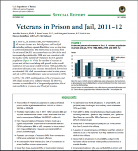 Veterans In Prison And Jail, 2011–2012 cover