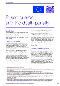 Prison Guards and the Death Penalty Cover