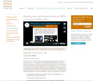 Developing and Implementing a PREA-Compliant Staffing Plan [Webinar] cover