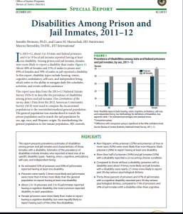 Disabilities Among Prison And Jail Inmates, 2011–12 cover