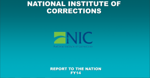 National Institute of Corrections Report to the Nation FY14 cover