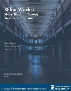What Works? Short-Term, In-Custody Treatment Programs Cover