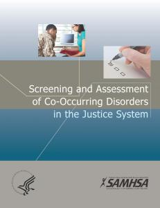 Screening and Assessment of Co-occurring Disorders in the Justice System Cover