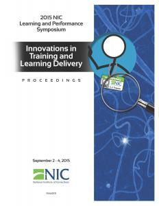 2015 NIC Learning and Performance Symposium Cover