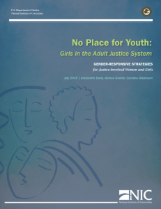 No Place for Youth: Girls in the Adult Justice System cover