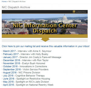 NIC Dispatch Cover