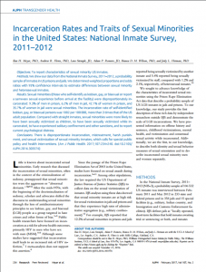 Incarceration Rates and Traits of Sexual Minorities in the United States: National Inmate Survey, 2011–2012 cover