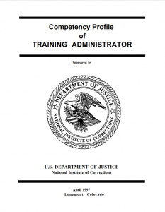 Competency Profile of Training Administrator Cover