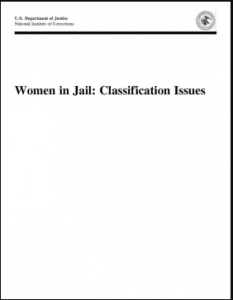 Women in Jail: Classification Issues Cover