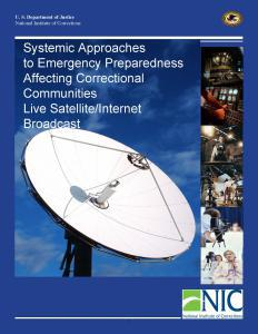 Systemic Approaches to Emergency Preparedness Affecting Correctional Communities Cover