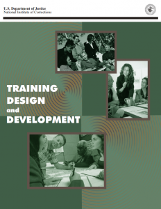 Training Design and Development Cover page