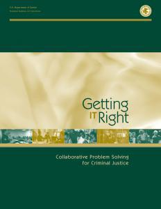 Getting It Right: Collaborative Problem Solving for Criminal Justice Cover