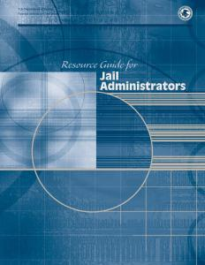 Resource Guide for Jail Administrators Cover