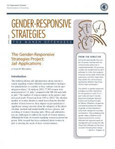 The Gender-Responsive Strategies Project: Jail Applications Cover