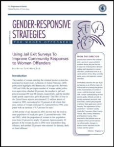 Using Jail Exit Surveys to Improve Community Responses to Women Offenders Cover