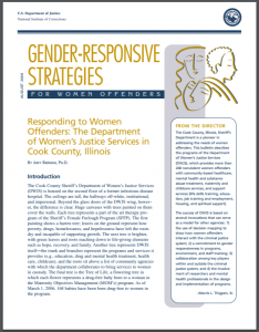 Responding to Women Offenders: The Department of Women's Justice Services in Cook County, Illinois Cover
