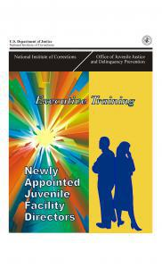 Executive Training for Newly Appointed Juvenile Facility Directors  Cover