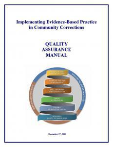 Implementing Evidence-Based Practice in Community Corrections Cover