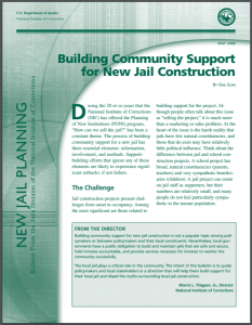 Building Community Support for New Jail Construction Cover