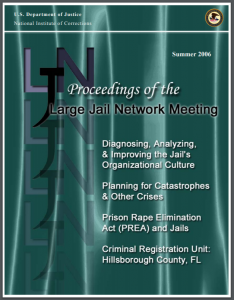 Proceedings of the Large Jail Network Meeting - July 2006 Cover