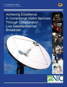Achieving Excellence in Correctional Victim Services Through Collaboration  Cover