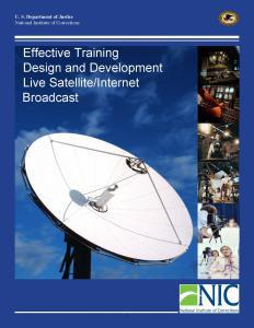 Effective Training Design and Development [Satellite/Internet Broadcast held April 2007] Cover