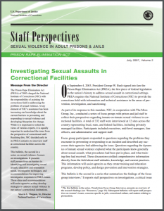 Investigating Sexual Assaults in Correctional Facilities Cover